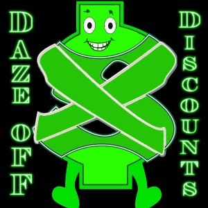 Join The Daze-Off Discounts Club -- Get Your FREE Membership Card & Start Saving TODAY!